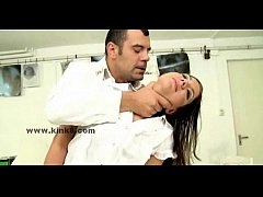 Slimb babe in doctor office punished