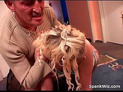 Naughty blonde teen is punished by hard