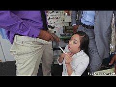 Asian Teen Mila Jade Receives Interracial Doubl...