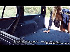 beautiful babe slutty stewardess christen gets banged hard in the car by dude