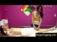 Petite asian masseuse on spycam sucking