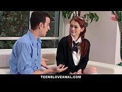 TeensLoveAnal - Redhead Alice Green Tries Anal Sex