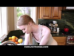 FamilyStrokes - Cute Sis Fucks Her Way Out Of T...