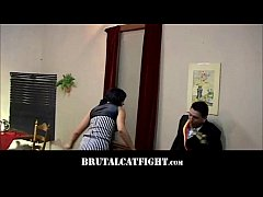 Lesbian beats her girl for starring to a man
