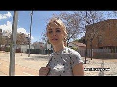 Banging blonde teen on street