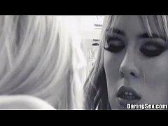 DaringSex Lesbian Girlfriends in Lingerie Love ...