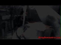 Lezdom punishing her slaves in compilation