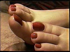 Cailleach Mara Red Nail Toejob Footjob