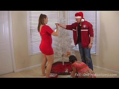 Mom and stepdaughter decorate more than the xmas tree - 2 part 4