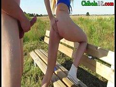 Follando a mi amiga en el campo