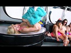 GIRLS GONE WILD - Young teen party girls turnin...