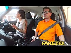 Fake Driving School Messy creampie advanced les...