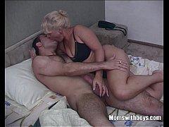 horny blonde stepmom taking stepson s cock for breakfast