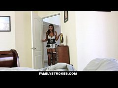 Family Strokes - Angry Step-Dad Fucks Sneaky Daughter