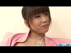 Ririka Suzuki needy milf kneels in front of a b...