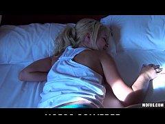 Beautiful bubble-butt blonde Destiny is woken u...