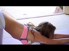 Passion-HD - Brunette Alexis Adams stretches wi...