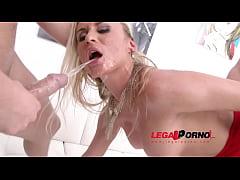 Laura Crystal 3on1 mini gangbang with DP & pee ...