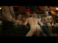 Party transforms into a total orgy when puppy g...