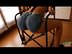 Big Booty Latina Working Out In Tight Denim Sho...