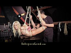 Sexual slave Nesty rough suspended in bdsm is p...