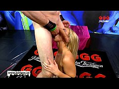 beautiful blondie nathaly cherie get her pretty face cum covered - ggg