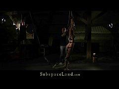 Ruthless BDSM Master Punishing Teen and Feeds H...
