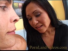 hot milf sucks and fucks a big cock in her puss...