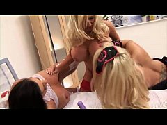 Sexy lesbian nurse three way