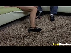 Horny older man pleasured by Aurora Snow