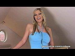 Gentonline carol gold masturbates with her silver dildo 5