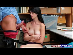 Big titty thief Alex Harper creampied by bad se...
