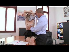 Rebel Lynn has orgasms on her boss' dick