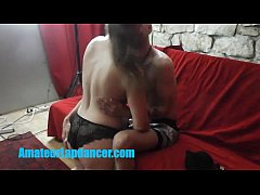 Czech MILF doing lapdance and blowjob at her fi...