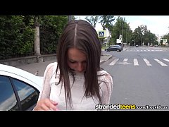 StrandedTeens - Teen gets some hot anal in the car