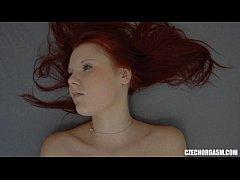 Redhead Girl Fingering Tight Pussy