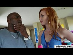 Pretty redhead Alex Tanner gets her pussy pumme...