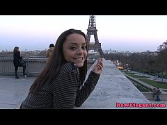 Pickedup french babe interracial buttfucked