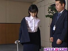 Yui Aina undresses in 3some