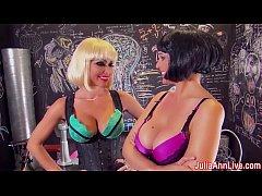 hot milf julia ann gives blowjob with girlfriend
