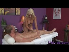 Cute busty Courtney Taylor gives more than massage