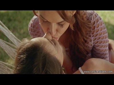 Lesbians Share A Secret Kiss (7 min)