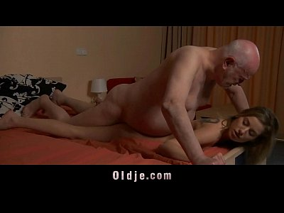 Nasty tina fucks oldman and eats his juice to cure her horny pussy 10