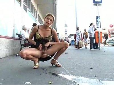 women pissing in public videos