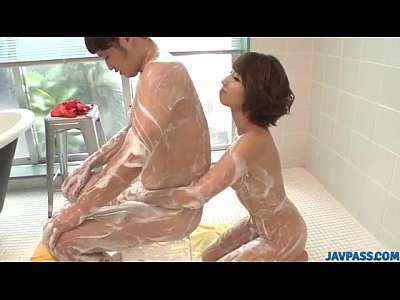 【無修正】水樹りさ ソープ嬢とぬるぬるローションプレイ