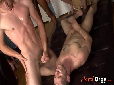 Small Gay Twinks Gets Gang-Bang Bukkake (1 min 35 sec)