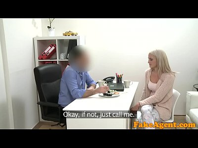 Fake Agent Hot blonde model loves cock over the desk with her sushi (14 min)