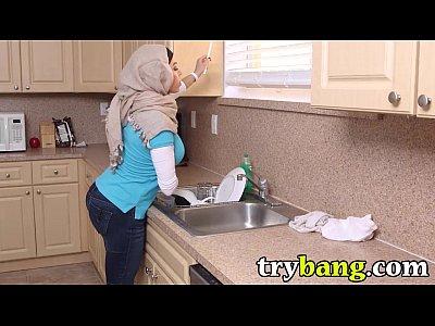 Arab muslim mia khalifa tries a big black 9