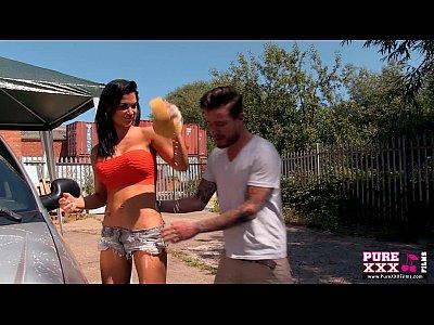 Purexxxfilms jasmine jae fucked at the carwash - 3 part 9