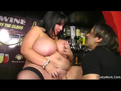 Fat barmaid getting fucked at work 10